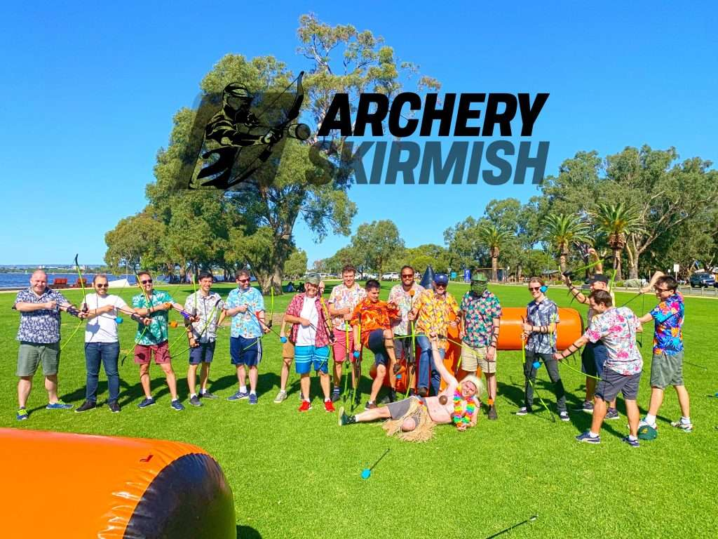Archery Skirmish Bucks Party Hawaiian Theme