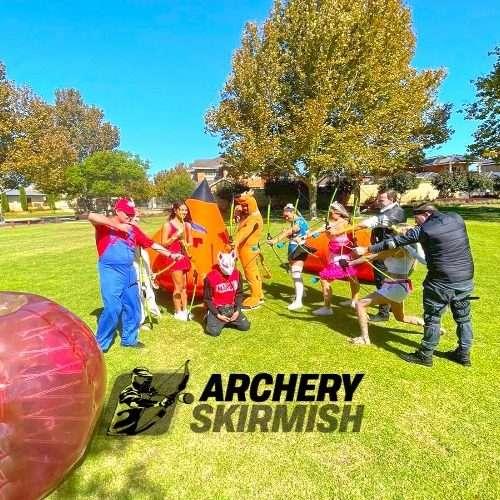 Archery Skirmish Perth Themed Birthday Party