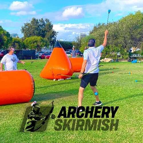 Archery Skirmish Perth Team Building Event Financial Planners South Perth Foreshore